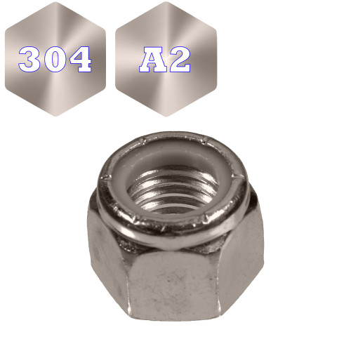 Metric Stainless 304 Nyloc Nuts (F2105)