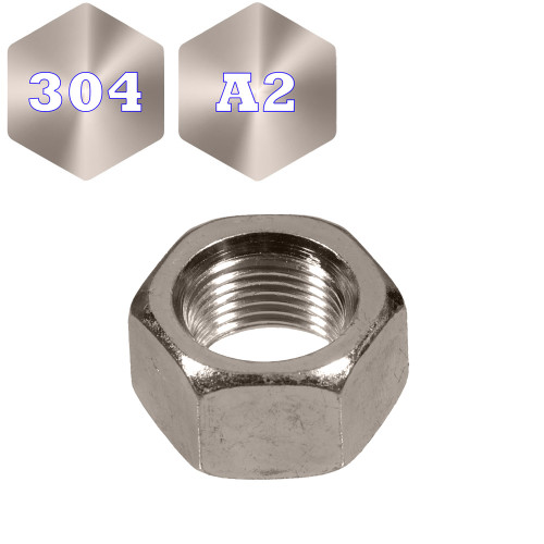 Metric Stainless 304 Hex Nuts (F2005)