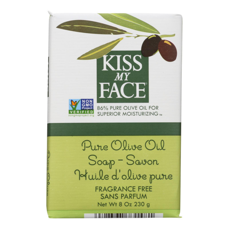 Kiss My Face Bar Soap, Pure Olive Oil Fragrance Free   8-Ounce