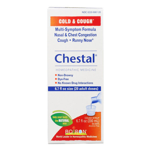 Boiron Chestal Cold N Cough Adult | 6 7-Ounce