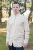 Men's Traditional Long Sleeve Grandfather Shirt - Stone
