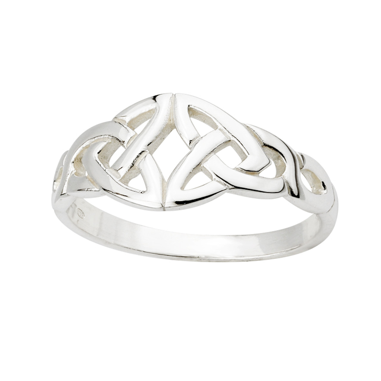 Women s Sterling Silver Celtic Knot Ring - The Twisted Shamrock 21e4f4cf2