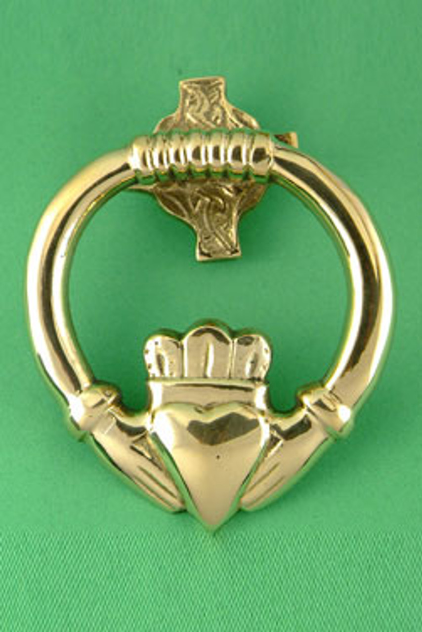 Picture of: Brass Claddagh Door Knocker 3 Sizes The Twisted Shamrock