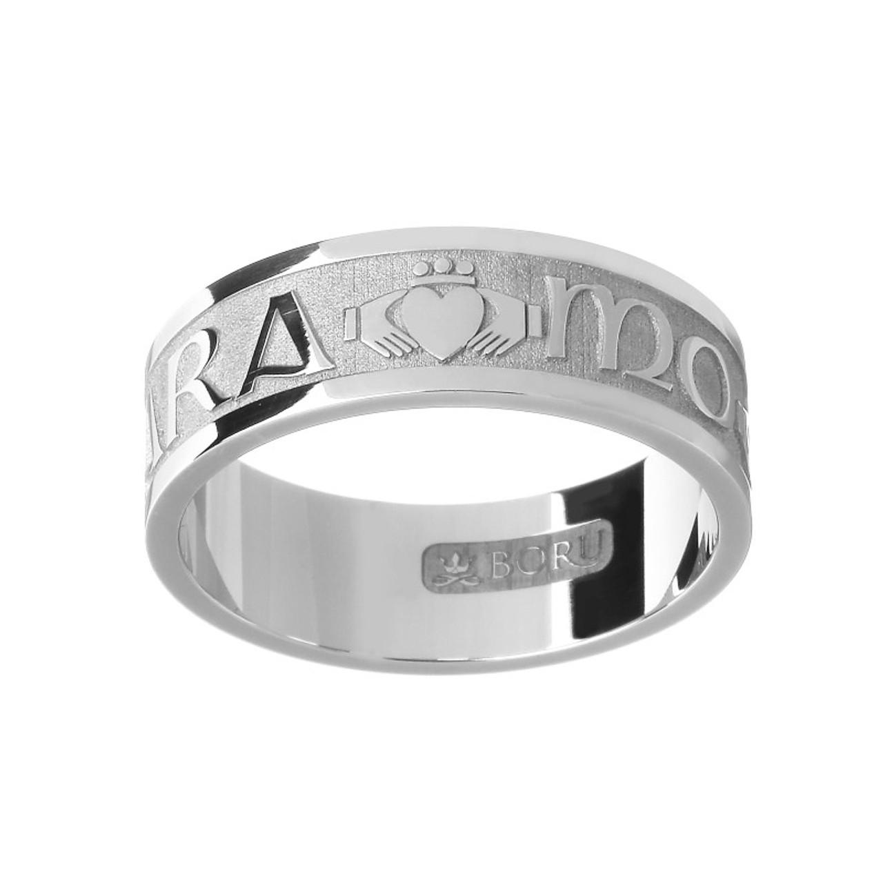 Men S Mo Anam Cara My Soul Mate Claddagh Wedding Ring Silver