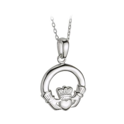Sterling Silver Medium Claddagh Pendant