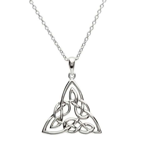 Sterling Silver Intricate Celtic Trinity Knot Pendant