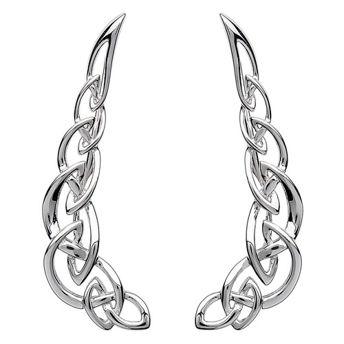 Sterling Silver Celtic Knot Climber Earrings