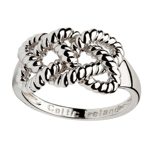 Women's Sterling Silver Celtic Fisherman's Knot Ring