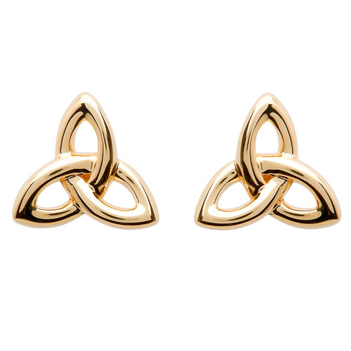 10 Karat Yellow Gold Celtic Trinity Knot Stud Earrings