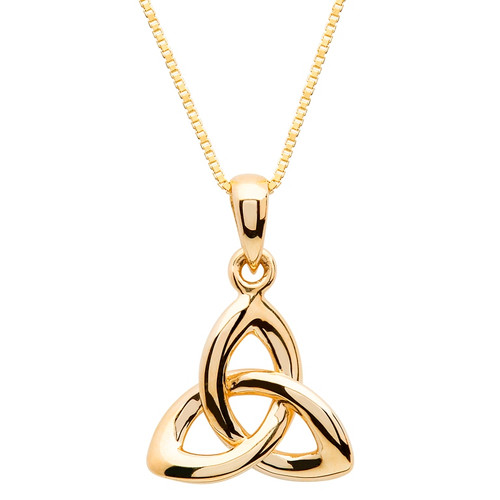 10 Karat Yellow Gold Celtic Trinity Knot Pendant