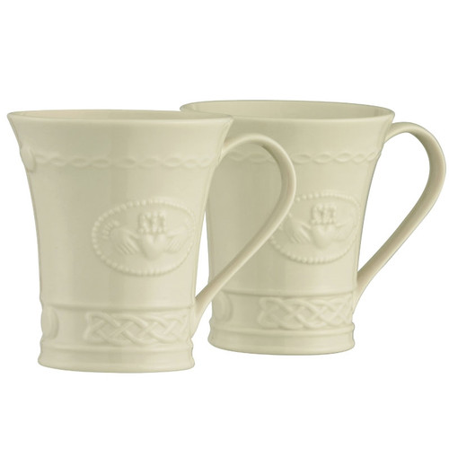 Belleek Claddagh Mugs (Set of 2)