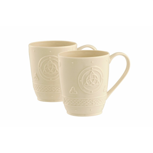 Belleek Celtic Mugs (Set of 2)
