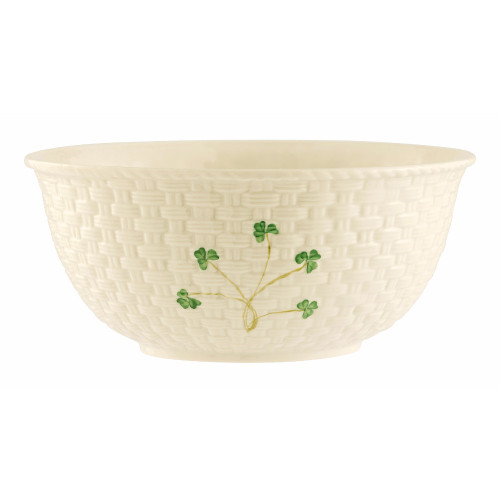 "Belleek Shamrock 9.5"" Mixing Bowl"