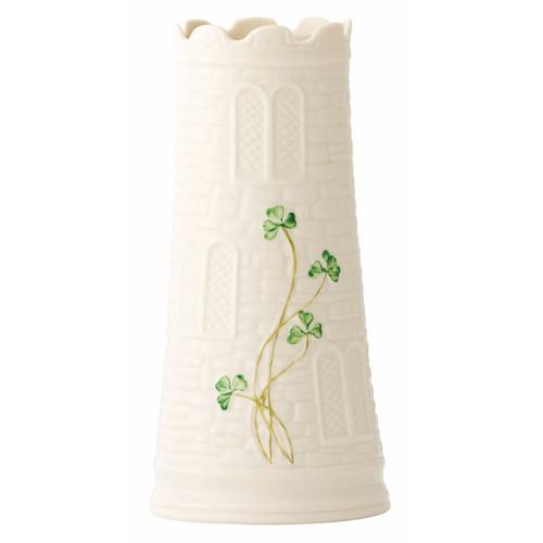 "Belleek Castle 7.7"" Vase"