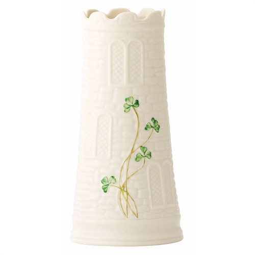 "Belleek Castle 7.7"" Vase"
