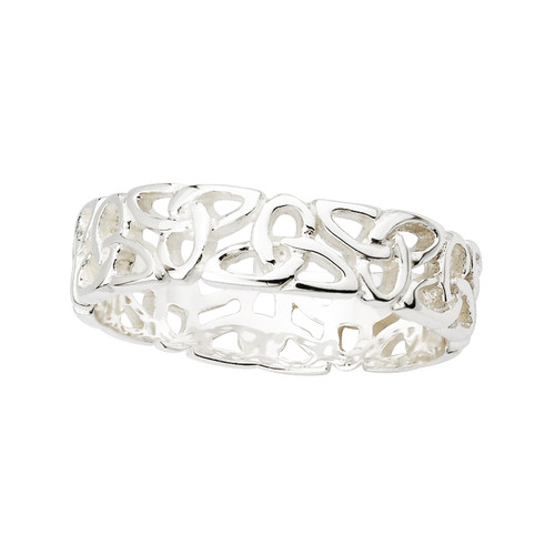 Women's Sterling Silver Celtic Trinity Knots Band