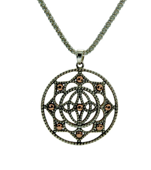 Eight Pointed Ashen Rose Necklace
