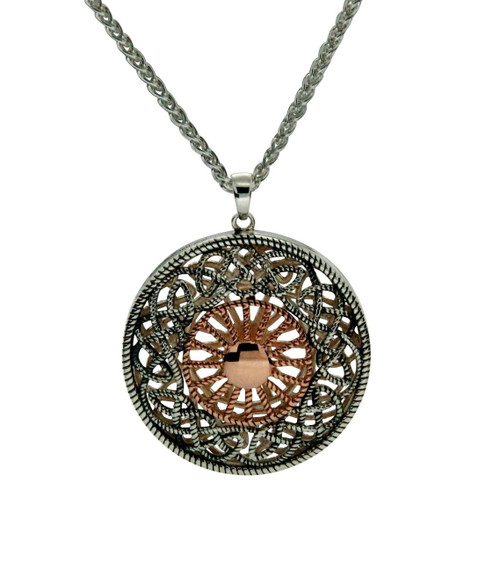 Medallion Ashen Rose Necklace