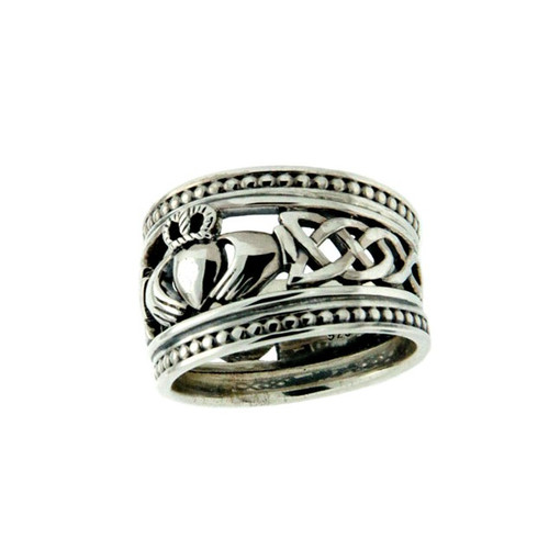 Men's Claddagh Shield Ring