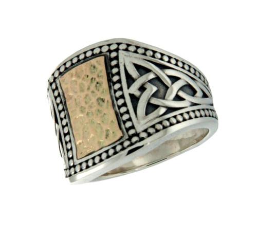 Men's Hammered Signet Ring