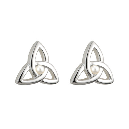 Children's Silver Plated Trinity Knot Stud Earrings