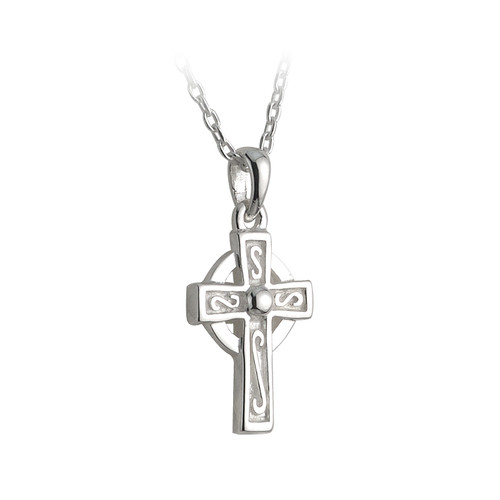 Children's Silver Plated Celtic Cross Pendant