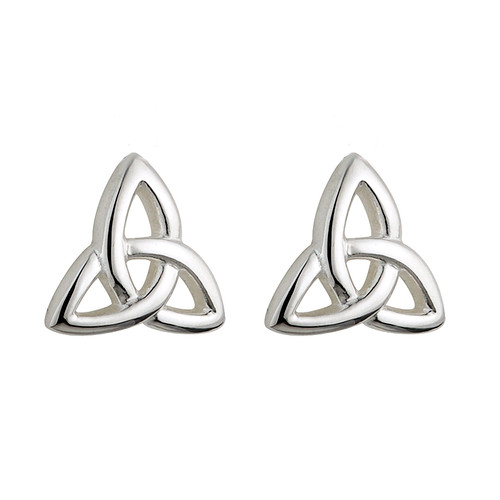 Children's Sterling Silver Trinity Knot Stud Earrings