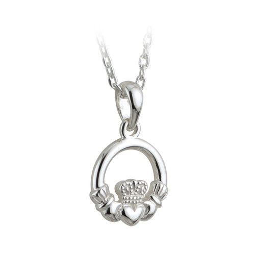 Children's Sterling Silver Claddagh Pendant