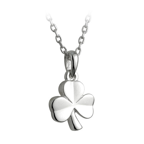 Children's Sterling Silver Shamrock Pendant