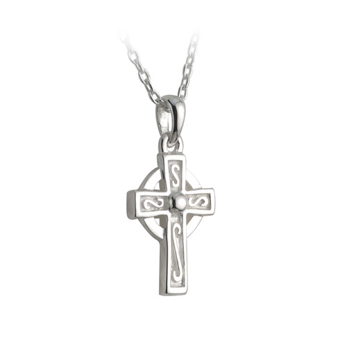 Children's Sterling Silver Celtic Cross Pendant