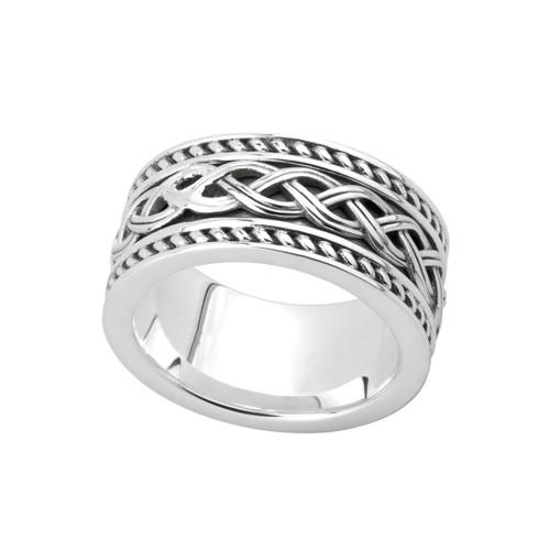 Men's Sterling Silver Celtic Knot Band