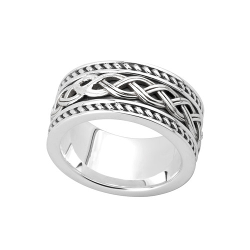 Men's Sterling Silver Celtic Knot Band