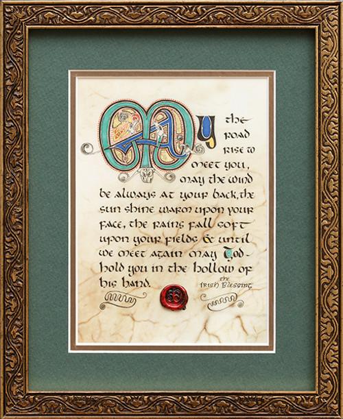 Irish Blessing 8x10 Framed