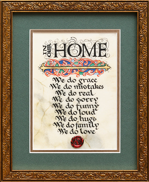 In Our Home 8x10 Framed