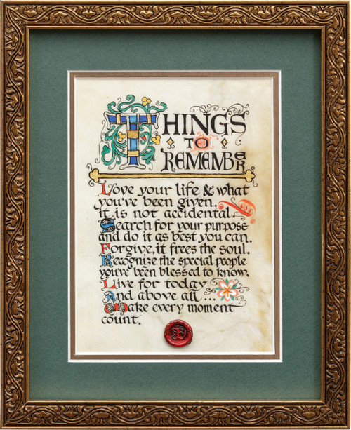 Things to Remember 8x10 Framed