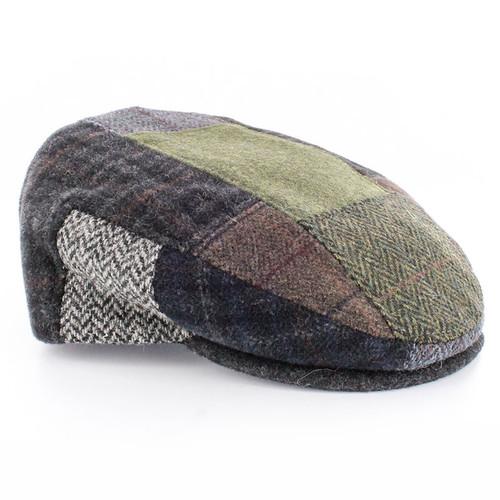 Men's Wool Patchwork Cap - Green