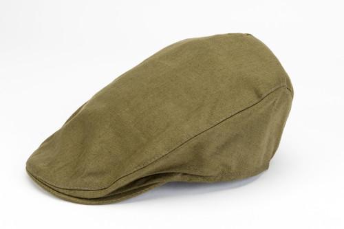 Men's Linen Flat Cap - Sage