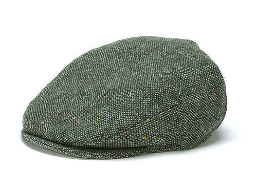 Men's Wool Flat Cap - Moss Green