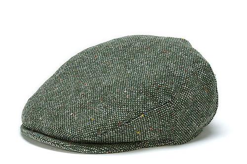 Men's Wool Flat Cap - Moss Green