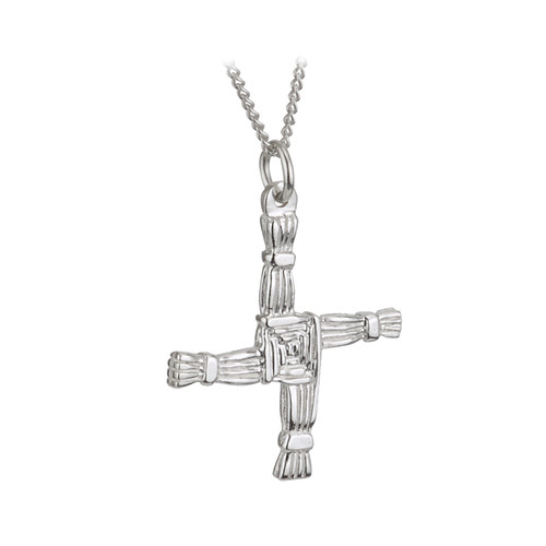 Sterling Silver St. Brigid's Cross Pendant