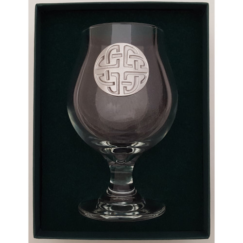 Craft Beer Glass - Celtic Knot - Pewter