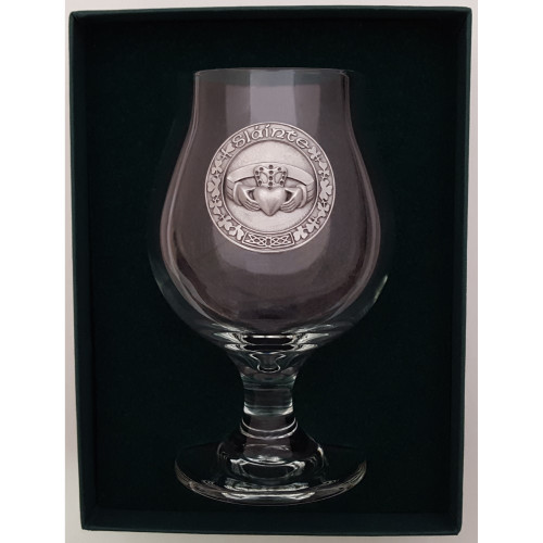 Craft Beer Glass - Claddagh - Pewter