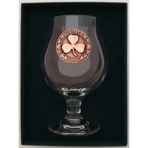 Craft Beer Glass - Shamrock - Copper