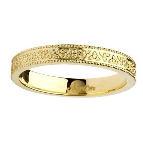14 Karat Yellow Gold Celtic Knot Wedding Ring
