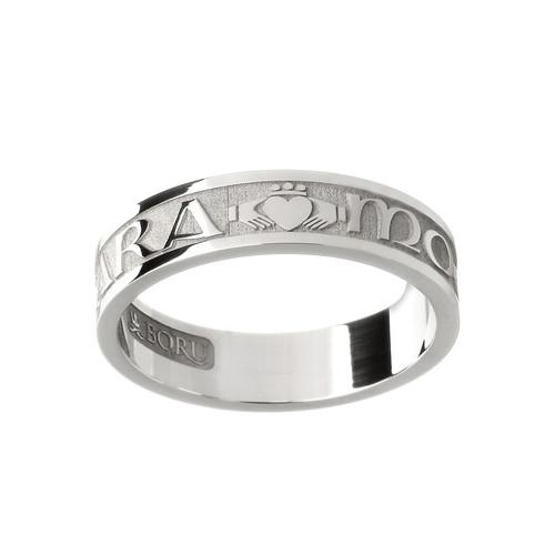 "Women's Mo Anam Cara ""My Soul Mate"" Claddagh Wedding Ring"