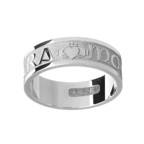"Men's Mo Anam Cara ""My Soul Mate"" Claddagh Wedding Ring (Silver, Yellow Gold, or White Gold)"