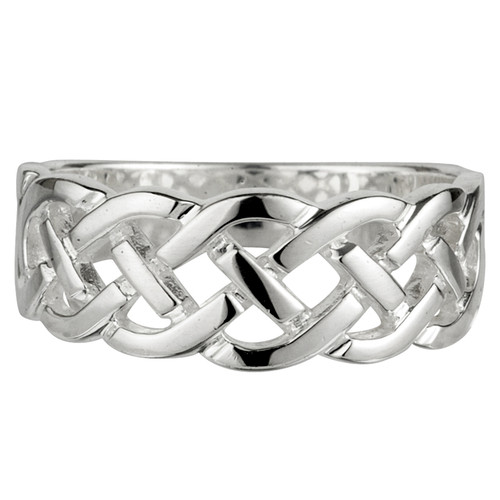 Women's Sterling Silver Woven Celtic Knot Ring