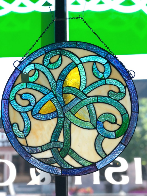 Celtic Tree of Life Stained Glass Window