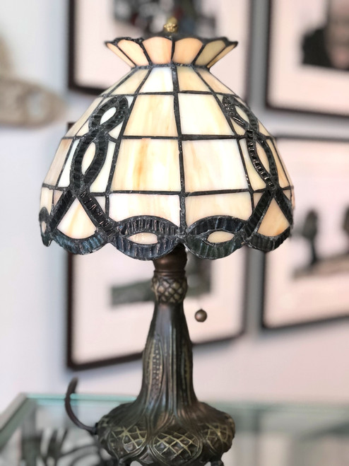 Celtic Wave Stained Glass Lamp