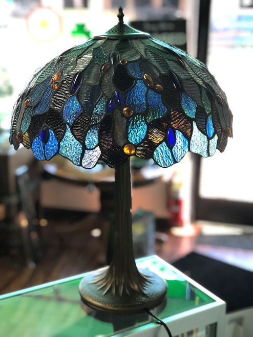 Fairy Pool Stained Glass Lamp
